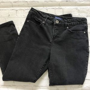 Bandolino Black Mandie Straight Leg Jeans